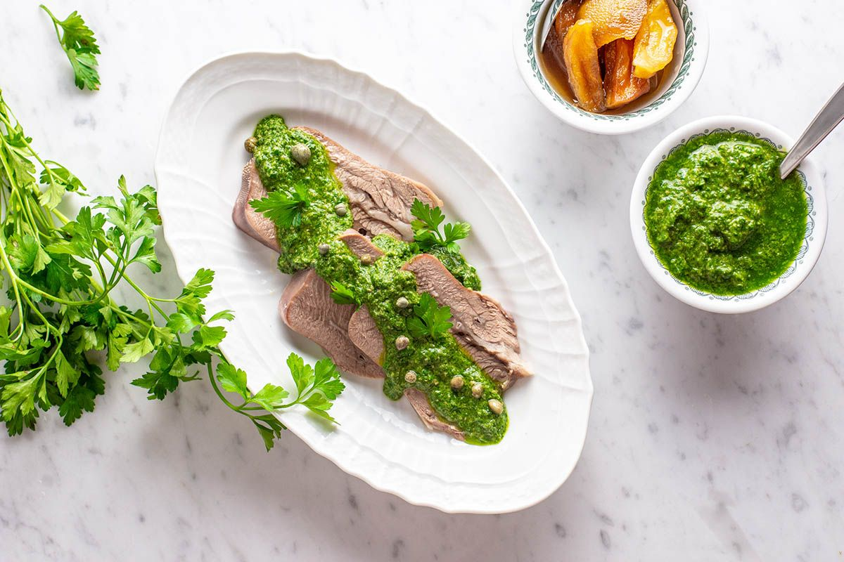 Photo of Veal tongue with green sauce