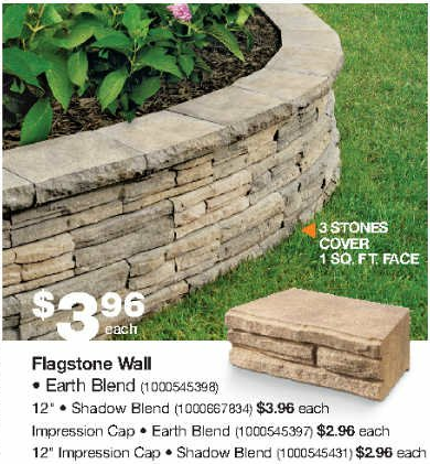 Was Checking Out A Recent Home Depot Flyer And This Caught My Eye I Like The Idea Landscaping Retaining Walls Front House Landscaping Backyard Retaining Walls