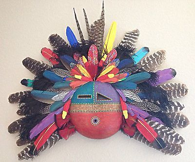 Native American Gourd Mask by Artist Doug Fountain | eBay