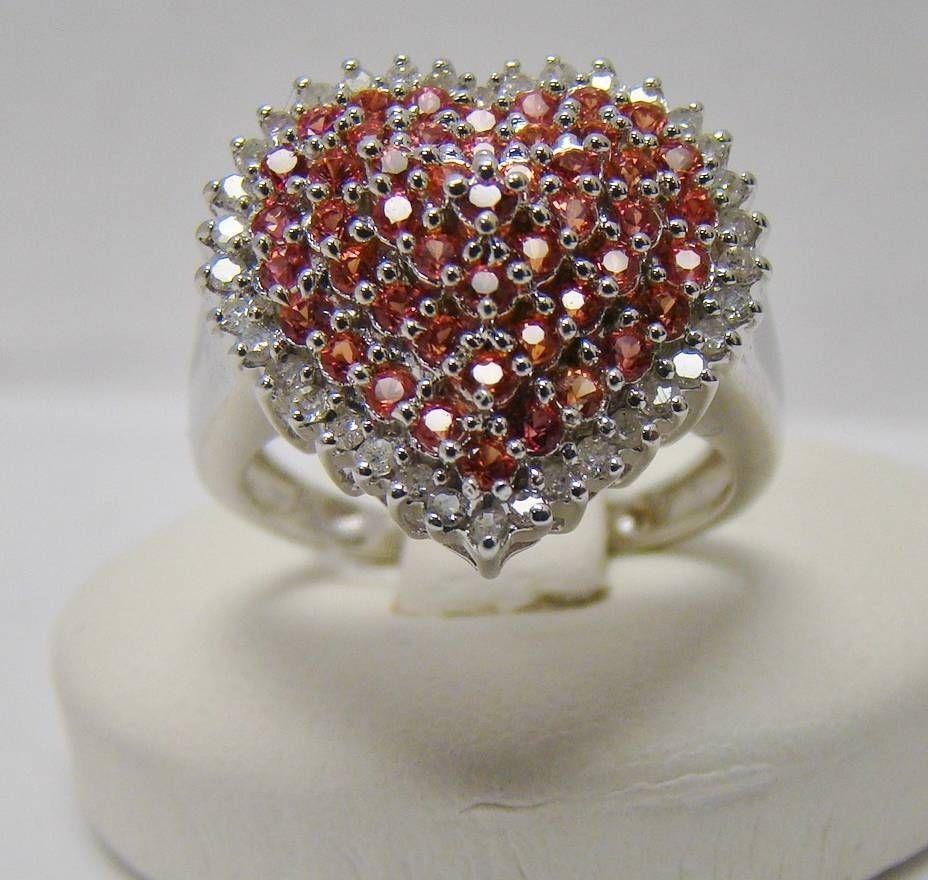 adc01d282 MICHAEL DRECHSLER MDJ 925 STERLING SILVER RING HEART PAVE CLUSTER DIAMOND  RING #MICHAELDRECHSLER #Cluster