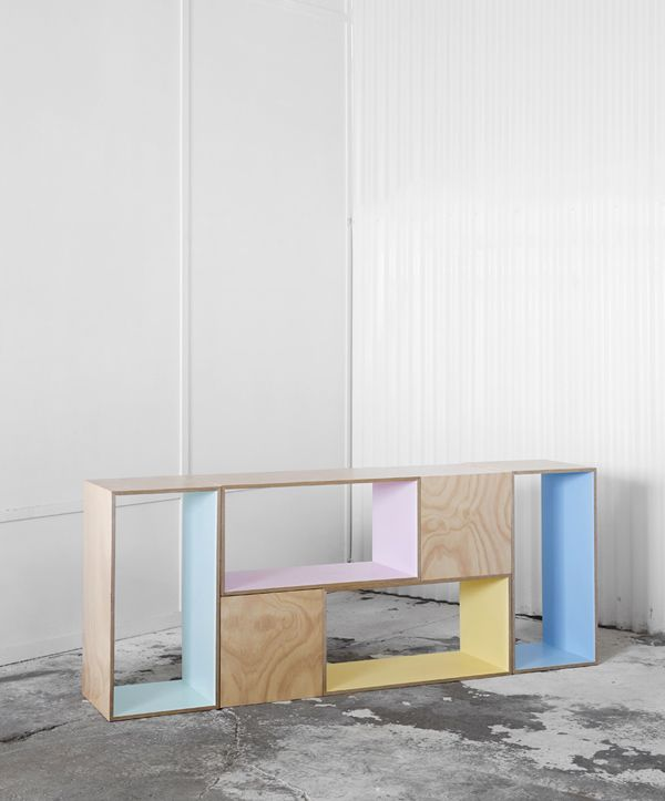 Pastel panels is a fun update you can do to any box style shelf unit