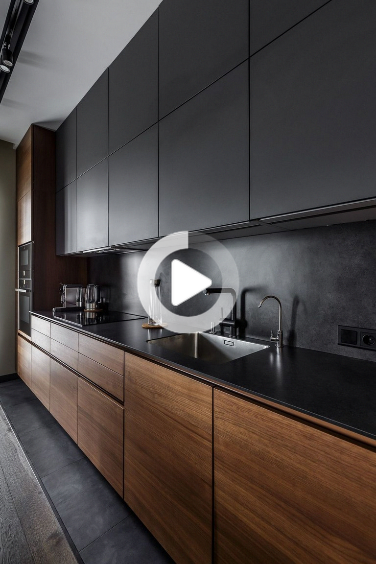47 Idees De Cuisine Au Design Moderne Elegnat Pour Inspirer Cuisine Kitchendesign Kitchendesignideas In 2020 Modern Wooden Kitchen Kitchen Inspiration Design Modern Kitchen Cabinet Design