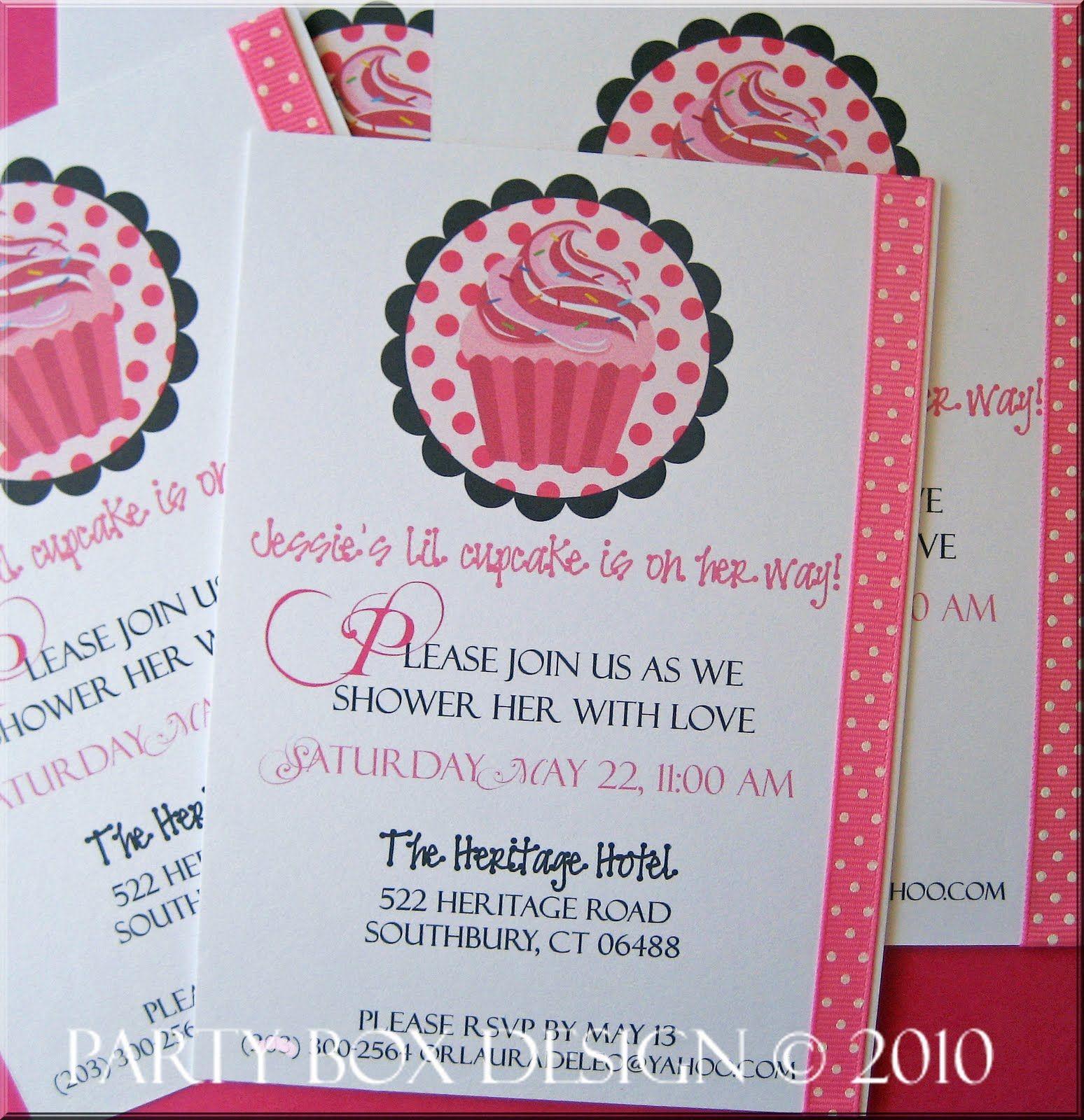 Cupcake Themed Baby Shower Invitations   http://atwebry.info ...