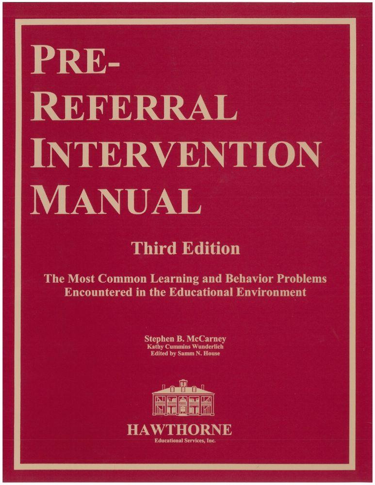 pre referral intervention manual third edition prim 3 new book rh pinterest com pre referral intervention manual 4th edition pdf pre-referral intervention manual 4th edition