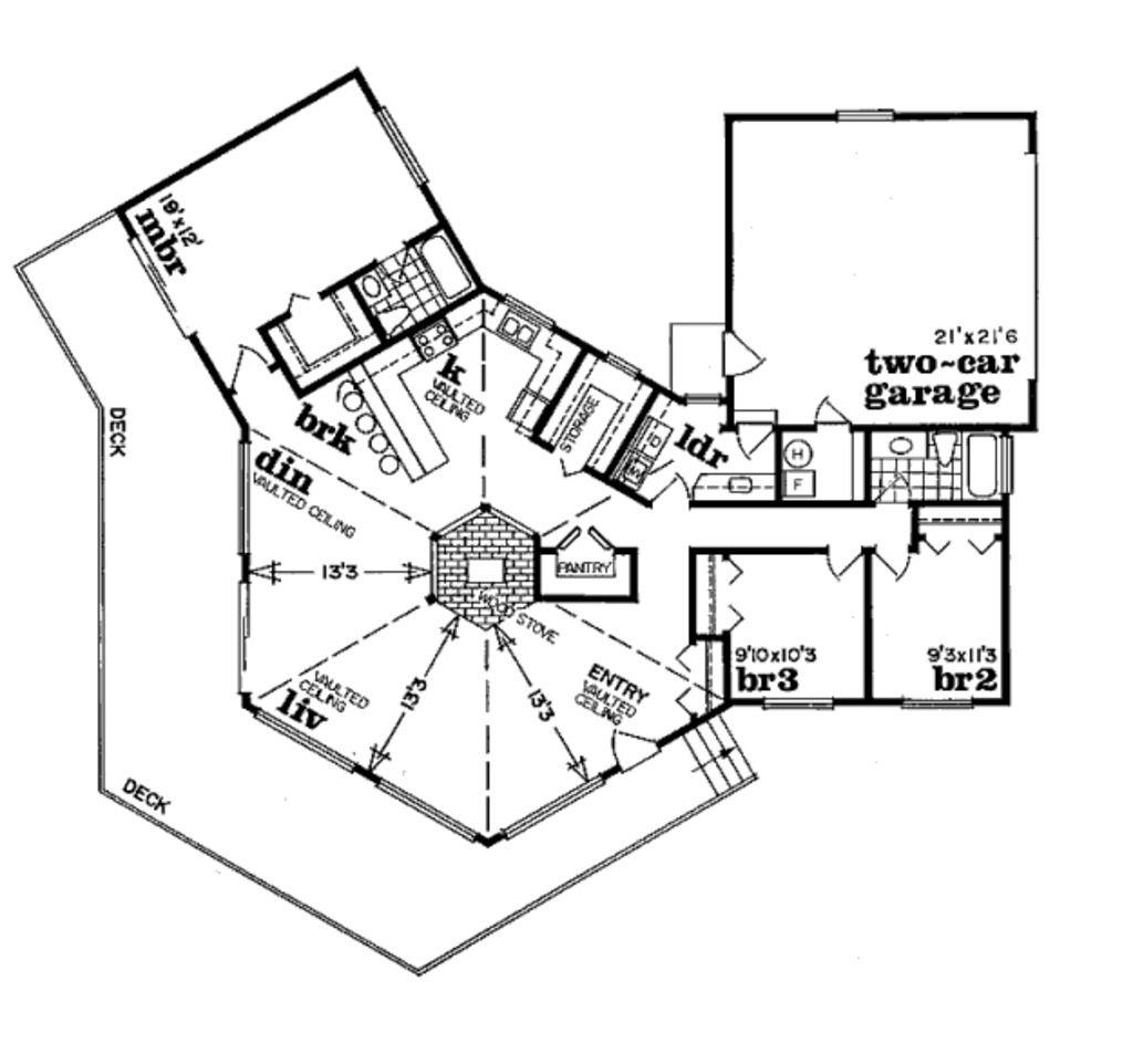 Modern Style House Plan 3 Beds 2 Baths 1803 Sq Ft Plan 47 602 Unique House Plans Modern Style House Plans House Plans