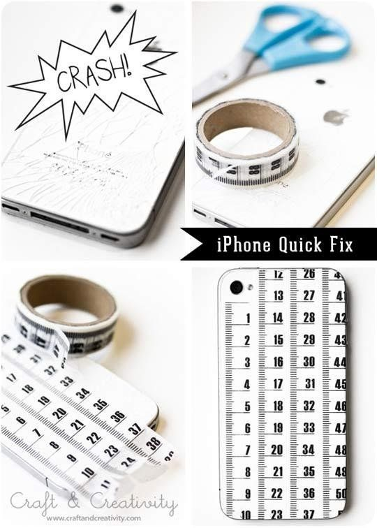 20 Ways to Decorate Your Tech with Removable Washi Tape-fix cracked phone