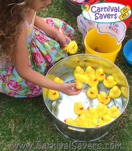 Matching ducks carnival party game school ideas for Koi pond game