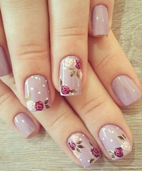 Decent Looking Flower Nail Art Designs Diseos De Uas Pinterest