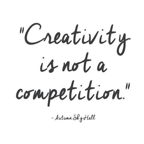 Criatividade não é competição.