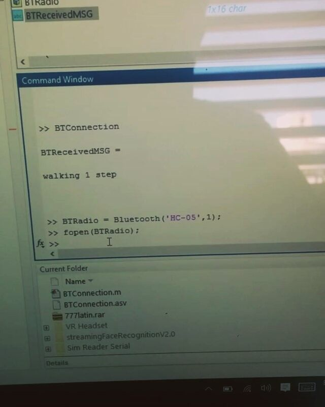 Matlab integration to my bleeding edge type robot looking
