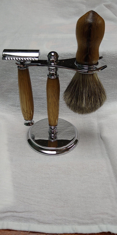 Double edge safety razor set made from Jim Beam whiskey
