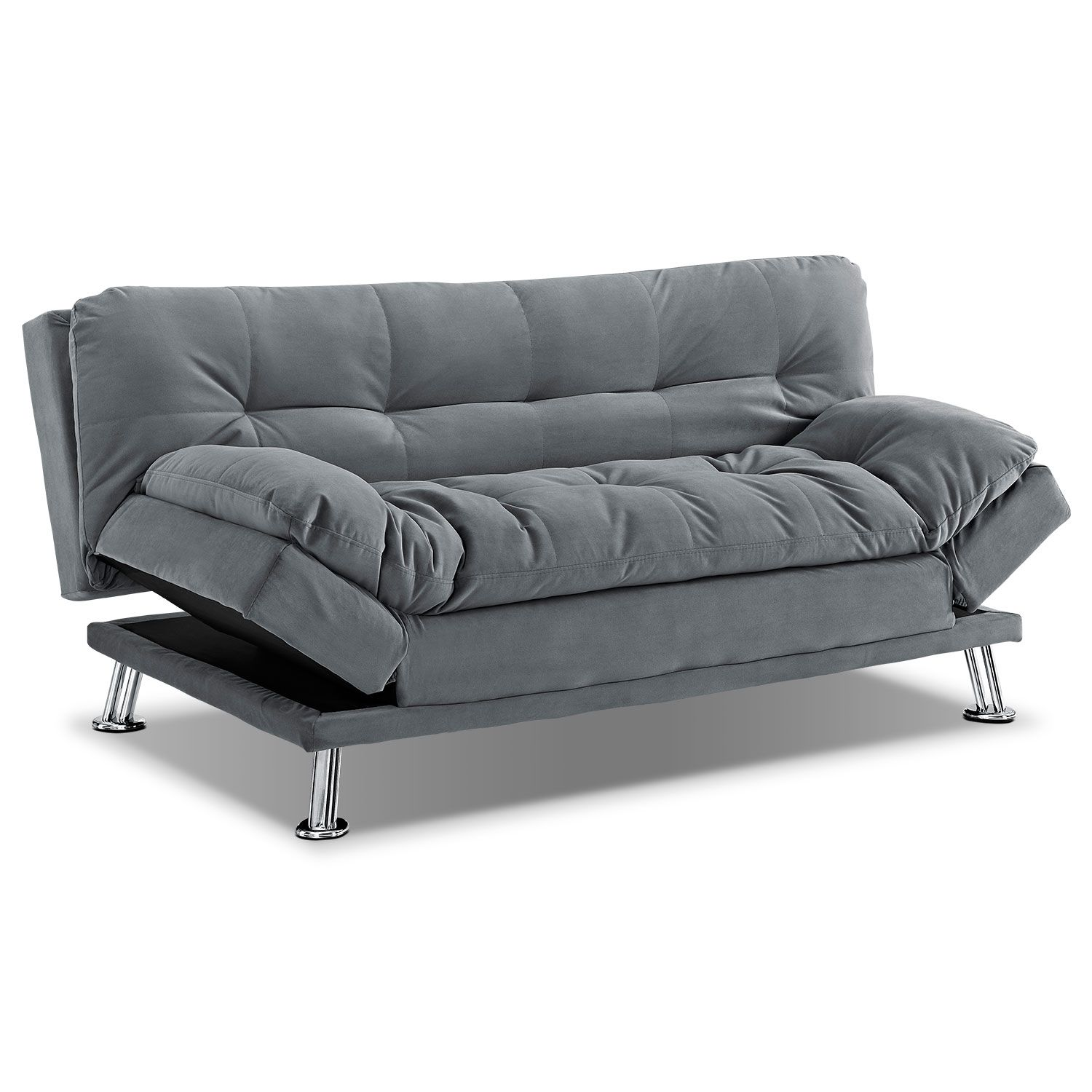 Waltz Gray Futon Sofa Bed Value City Furniture