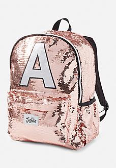 Sequin Sparkle Initials Backpack Justice Backpacks Girl Backpacks Girls Bags