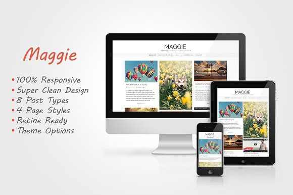 Maggie - Responsive Blog Theme   Blog templates free, Wordpress free ...