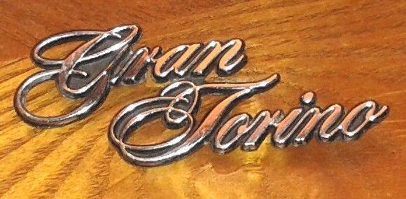 Rare Ford Gran Torino Script Logo Metal Emblem Script Logo