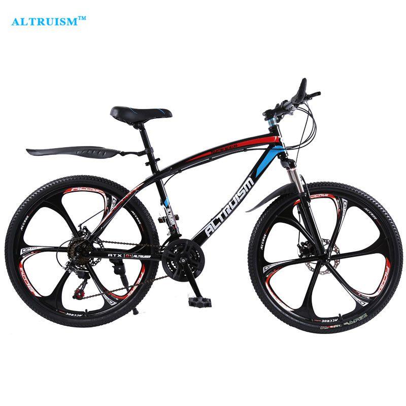 Altruism Q1 24 Speed 26 Inch Steel Road Bike Double Disc Brake One Wheel Male S Mountain Bike Bicicleta Road Bicycle Bikes Mountain Biking Mountain Bike Tires