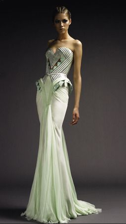 Versace Atelier-Love the detailed bottice and the hip detailing