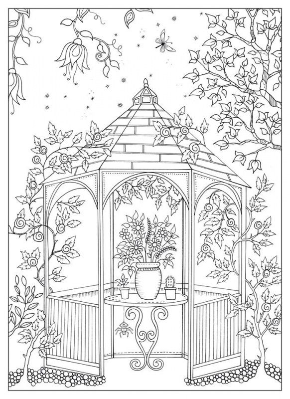 Printable Garden Coloring Pages : printable, garden, coloring, pages, ADULT, COLORING
