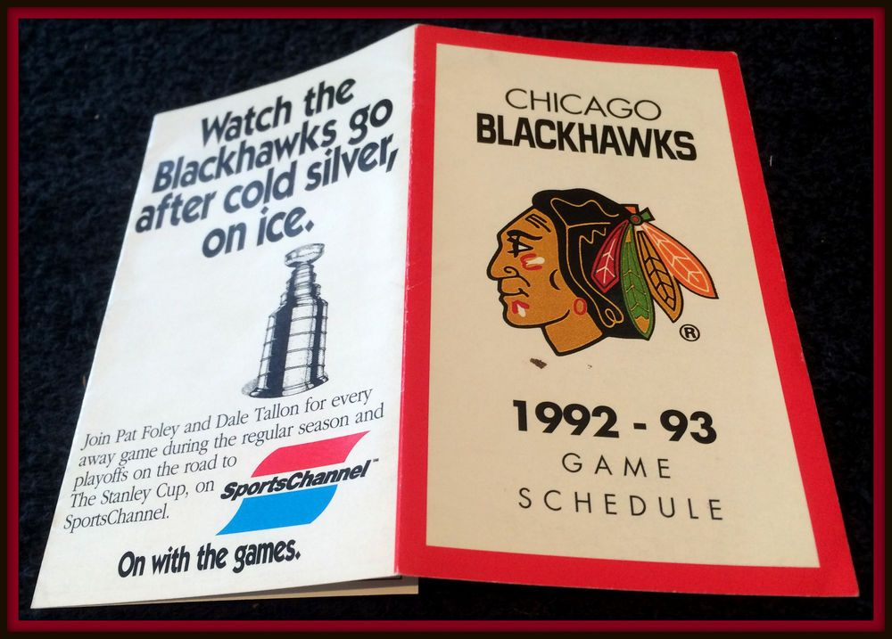 199293 CHICAGO BLACKHAWKS SPORTS CHANNEL HOCKEY POCKET