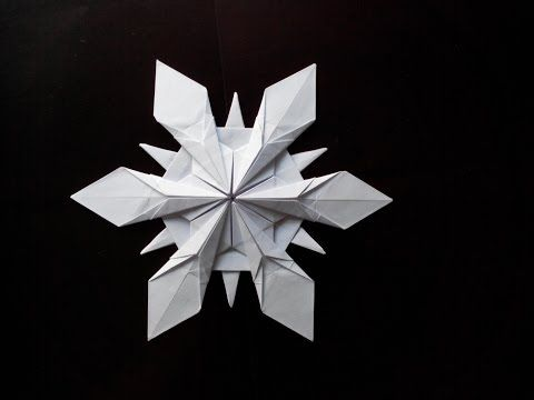 снежинка оригами Riccardo Foschi Snowflake Origami