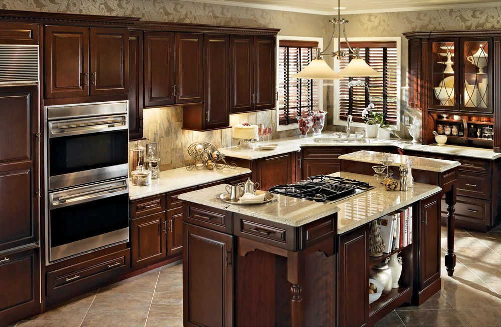 Cherry Kitchen in Burnished Cabernet With Classic