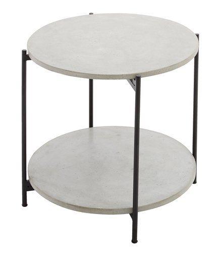 Side Table Jysk.Sidobord Otta O50xh47 Gra Jysk Balcony Ideas Snygga Utemobler