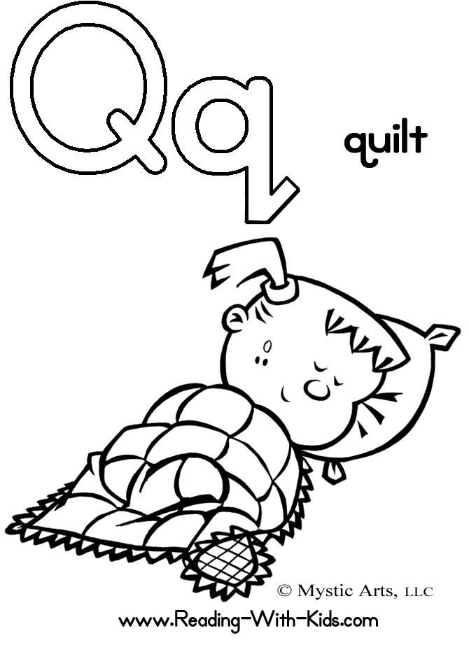 letter q coloring page # 16