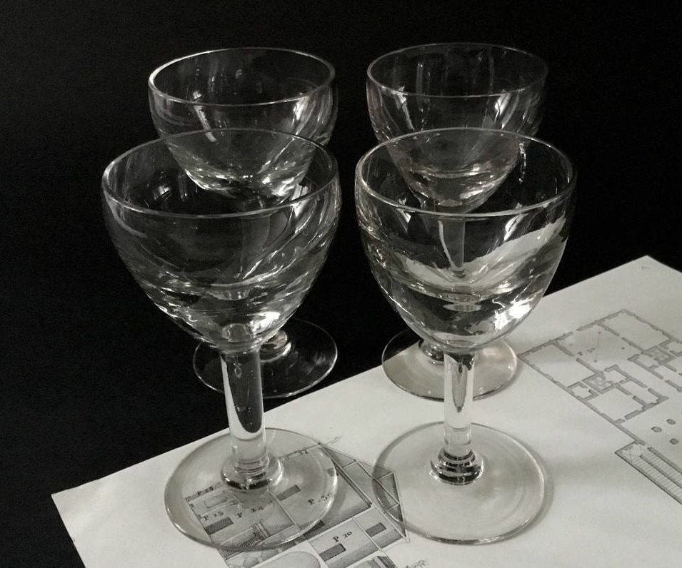 Exceptional French Vintage Molded Wine Glass. 60u0027s Clear White Wine Glass. French Classic  Barware. Vintage French Bistro Glass