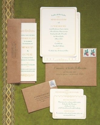 A 20's-era-inspired green-and-gold suite