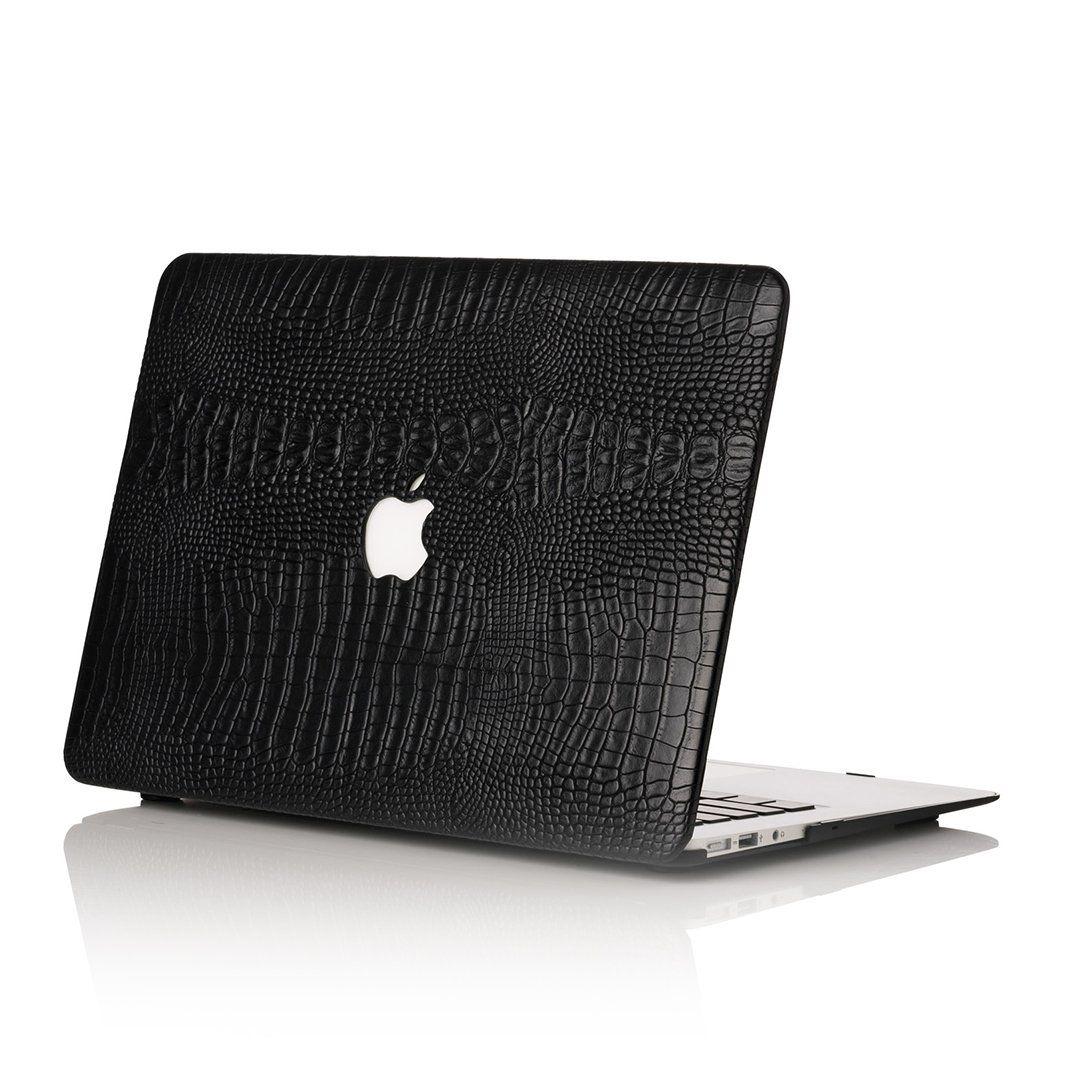 Black Faux Crocodile MacBook Case Macbook case