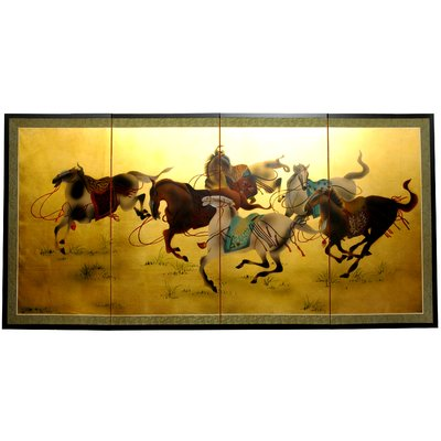 World Menagerie Maurice Riders In The Storm 4 Panel Room Divider Panel Room Divider 4 Panel Room Divider Room Divider