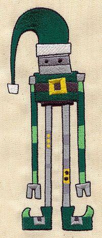 Robot Elf design (UT3980) from UrbanThreads.com
