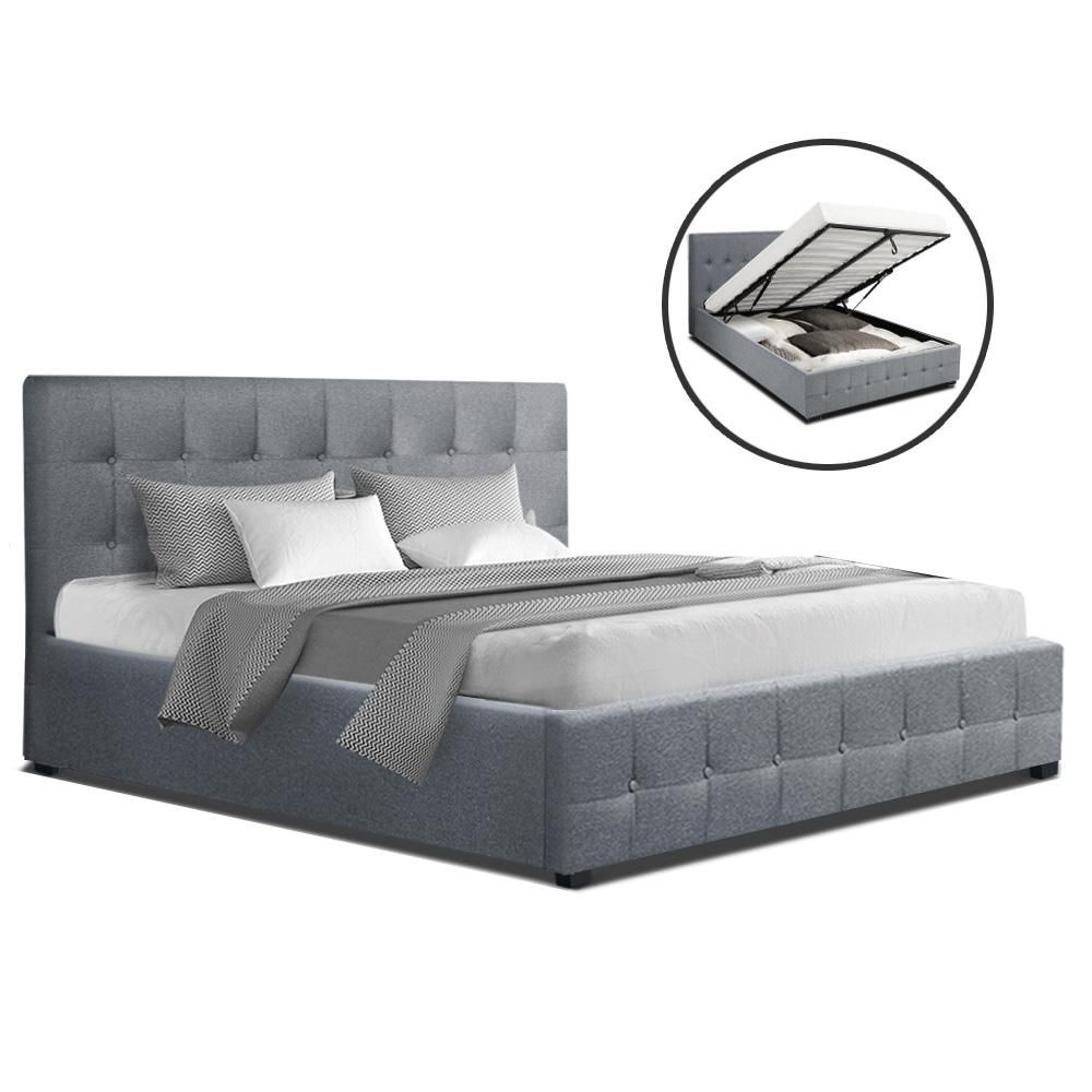 Roca Double Full Size Gas Lift Bed Frame Base With Storage