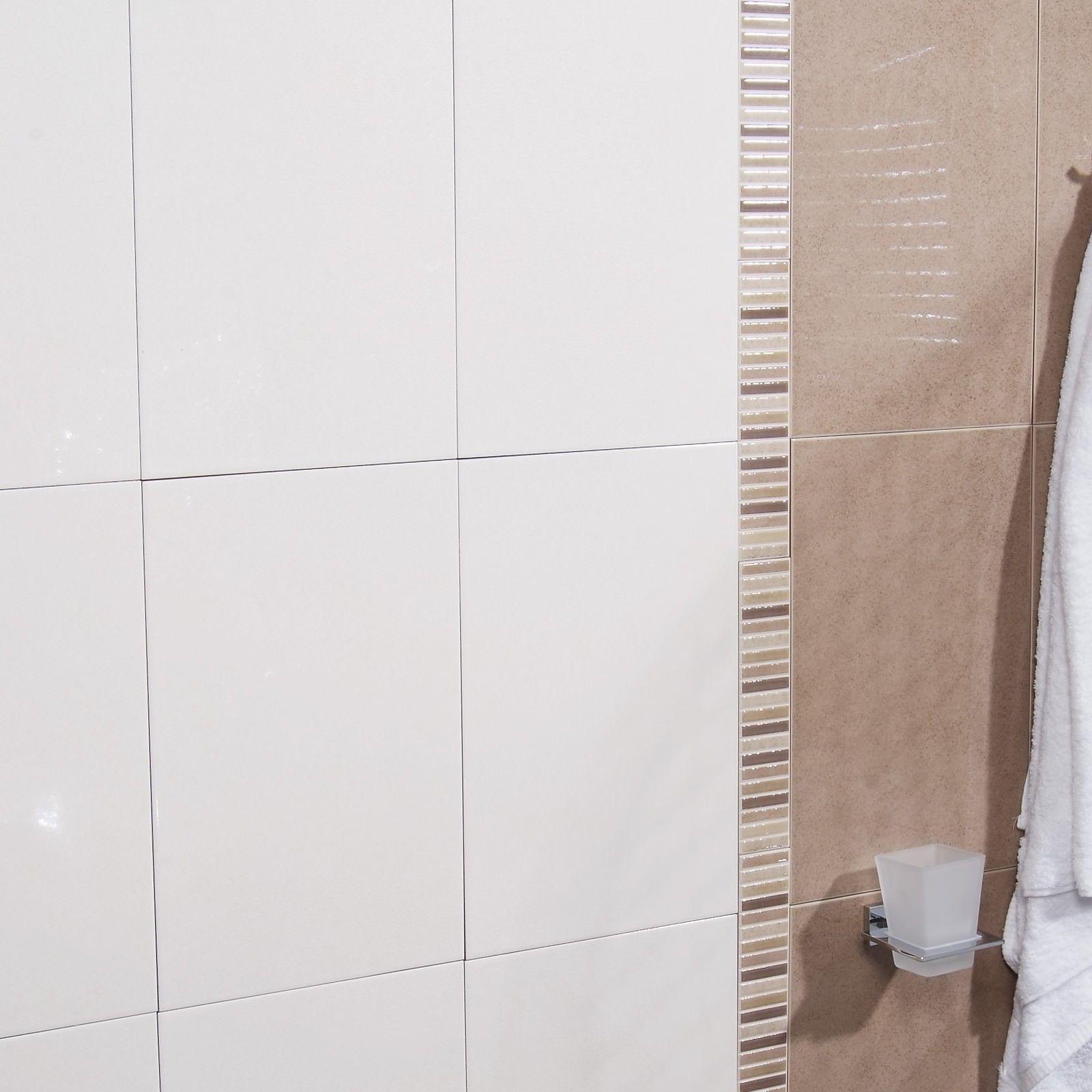 Duo Blanco Wall Tile - Black And White Bathroom Ideas - White Tiles ...