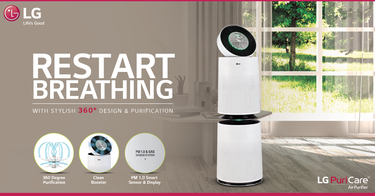 As95gdwt0 Air Purifier Cleaning 360 Design