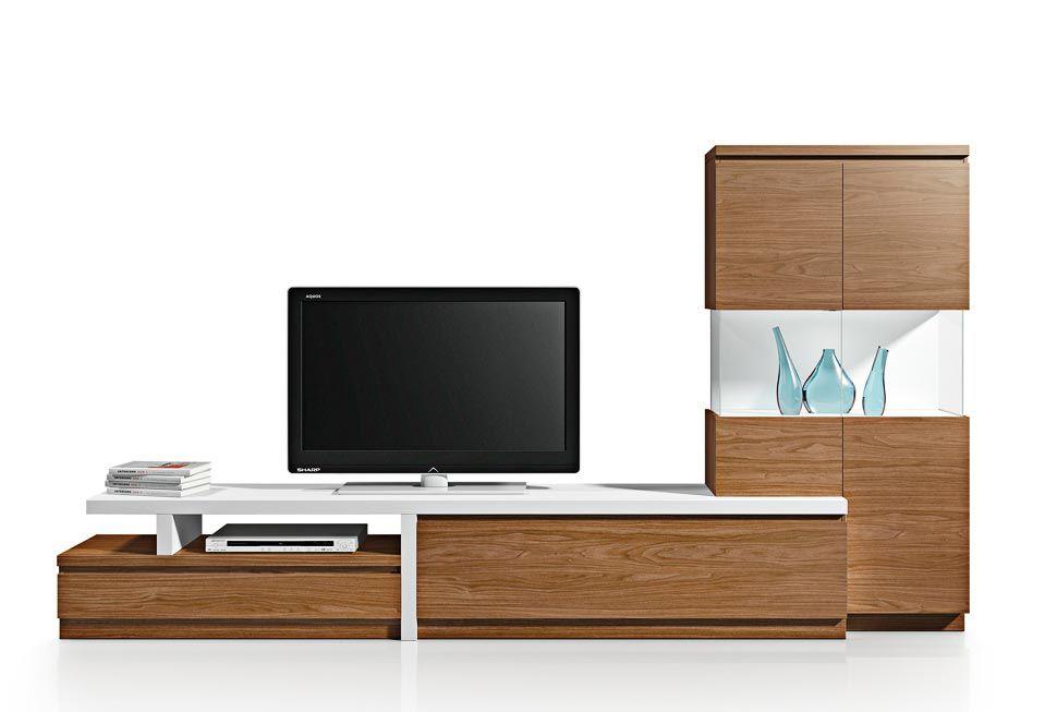 Ambiente 3955B \u2013 Composición de muebles modernos para salón Es una
