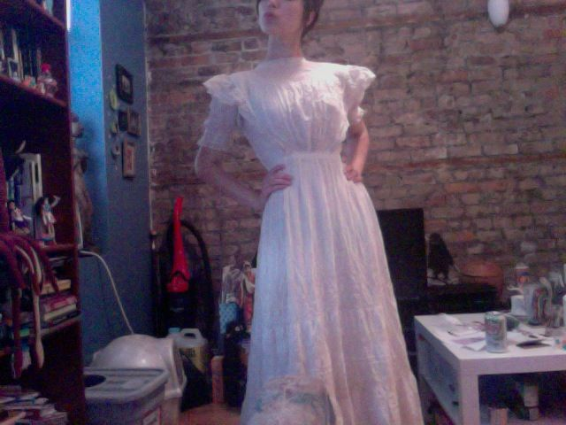 authentic victorian teagown. shall be the base of the ghastly vocal director's costume
