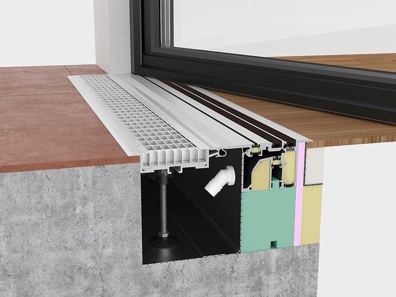 Schnitt Mfat Mit Rinnenrahmen Und Gitterrost Fenster Detail Haus Selber Bauen Giebelseite