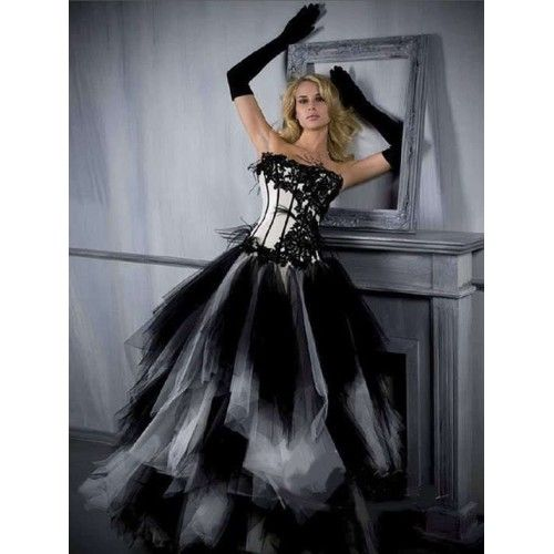 Black Wedding Dress Up : Black and red wedding gowns black and white wedding dresses