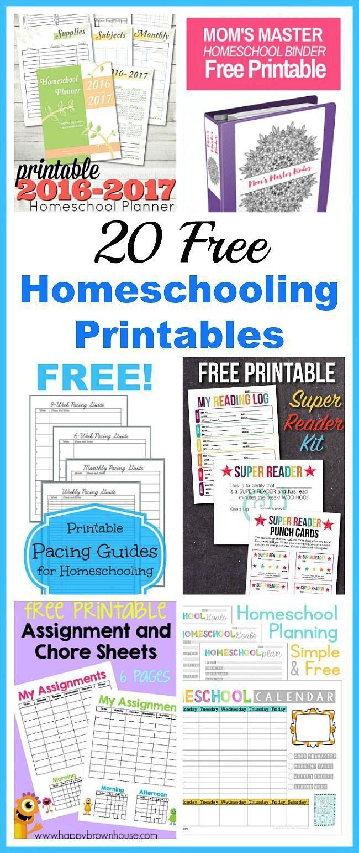 20 Free Homeschooling Printables Homeschool kindergarten
