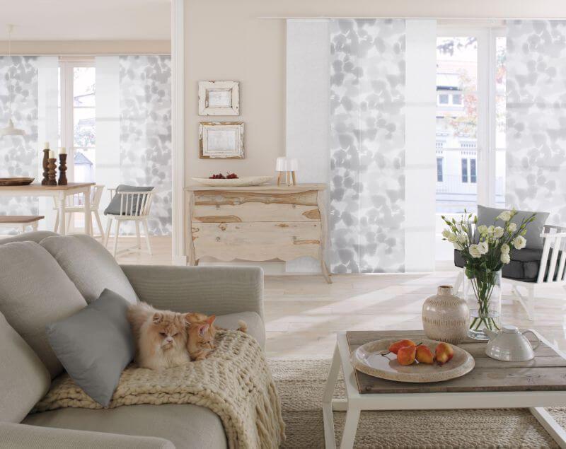 wohnzimmer flaechenvorhang grau muster ❤ Vielfältige Plissees - gardinen muster für wohnzimmer