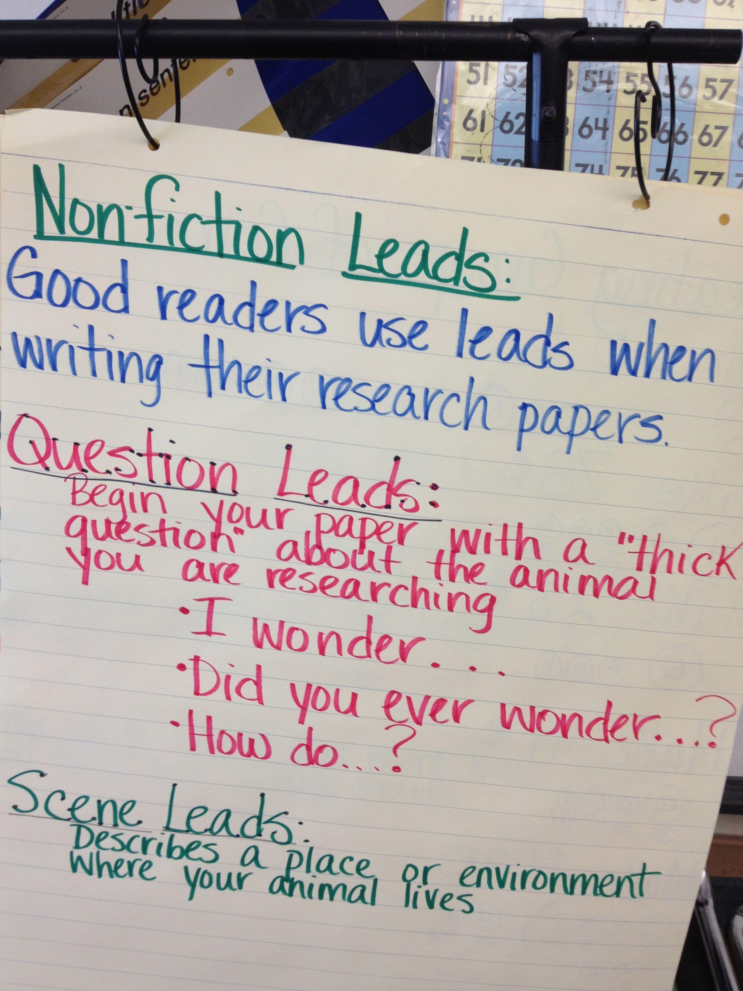Nonfiction Leads