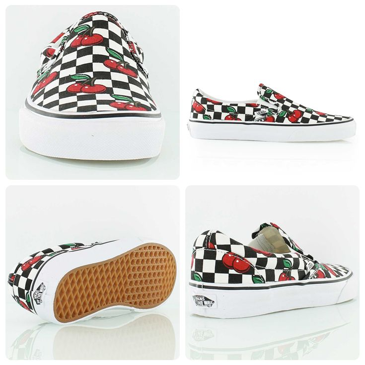 Don't be cherry picking! Vans Slip on checkered cherry
