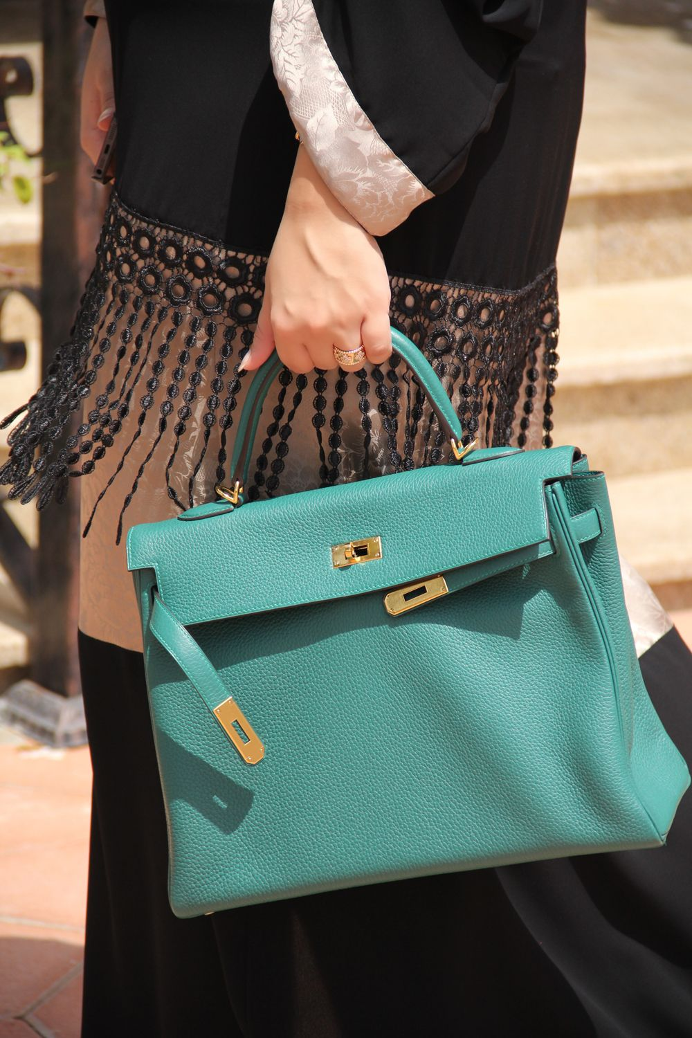 92a6a1497e9b Hermes Kelly bag in Malachite Green