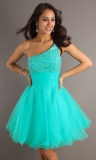 Homecoming Turquoise Short Mini Cocktail Party Evening Formal Ball