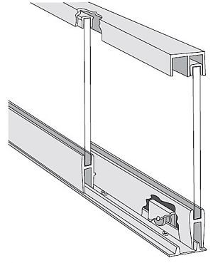 Knape And Vogt P1092anod48 Kv 48 1219mm Roll Ezy Aluminum Track Set For 1 4 Thick Small To Med Glass Sliding Doors Sliding Glass Door Aluminium Sliding Doors Sliding Cabinet Doors