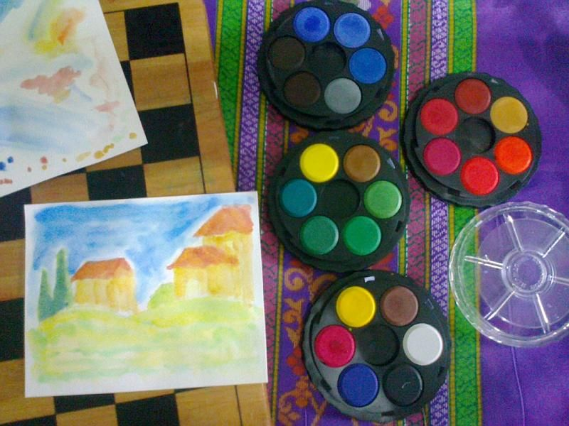 Koh I Noor Pan Watercolors Set Of 4 Stackable Round Trays Clear