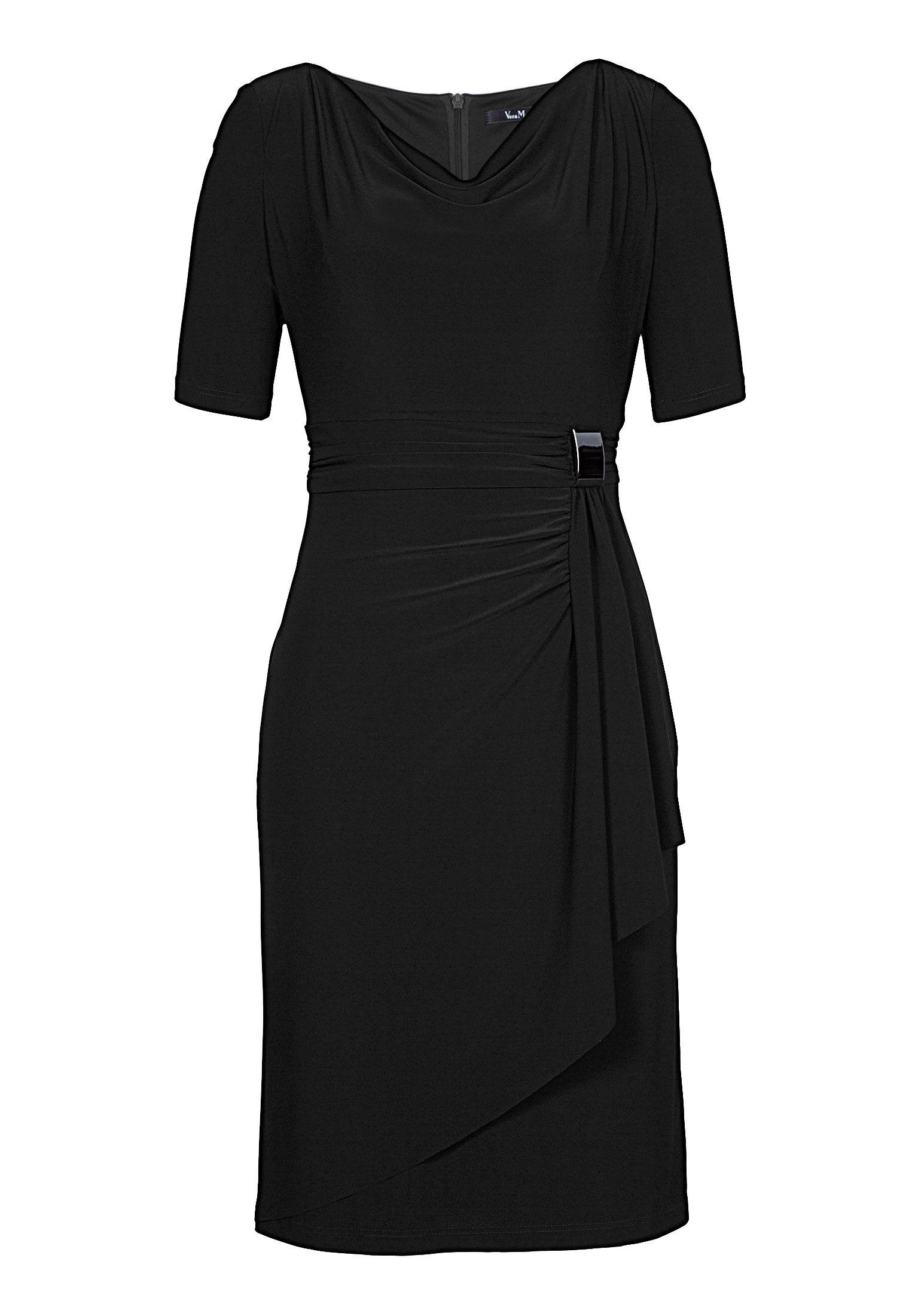 schwarzes schlichtes cocktailkleid von vera mont brautmutter kleider abendkleid und. Black Bedroom Furniture Sets. Home Design Ideas