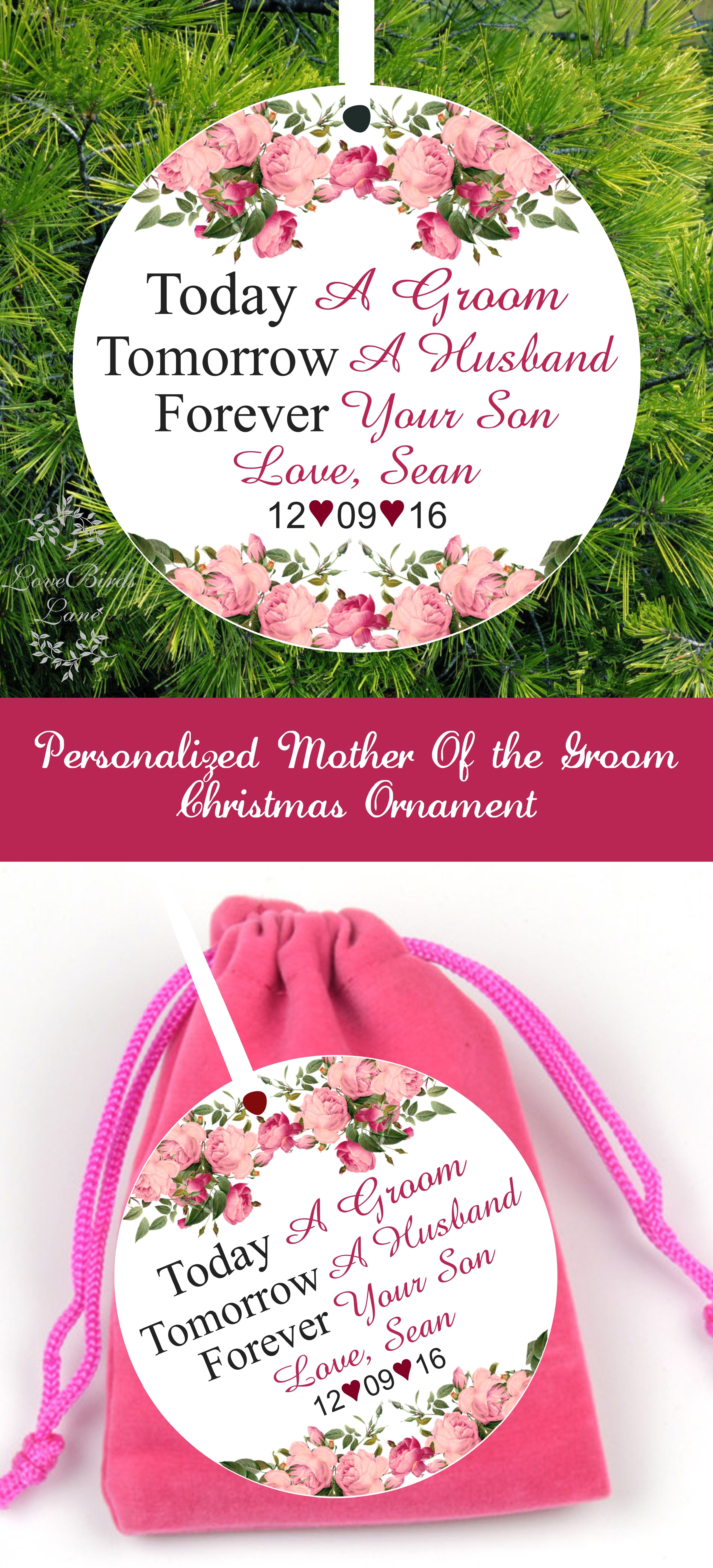 Today Tomorrow Forever Your Son Pink Floral Christmas Ornament ...