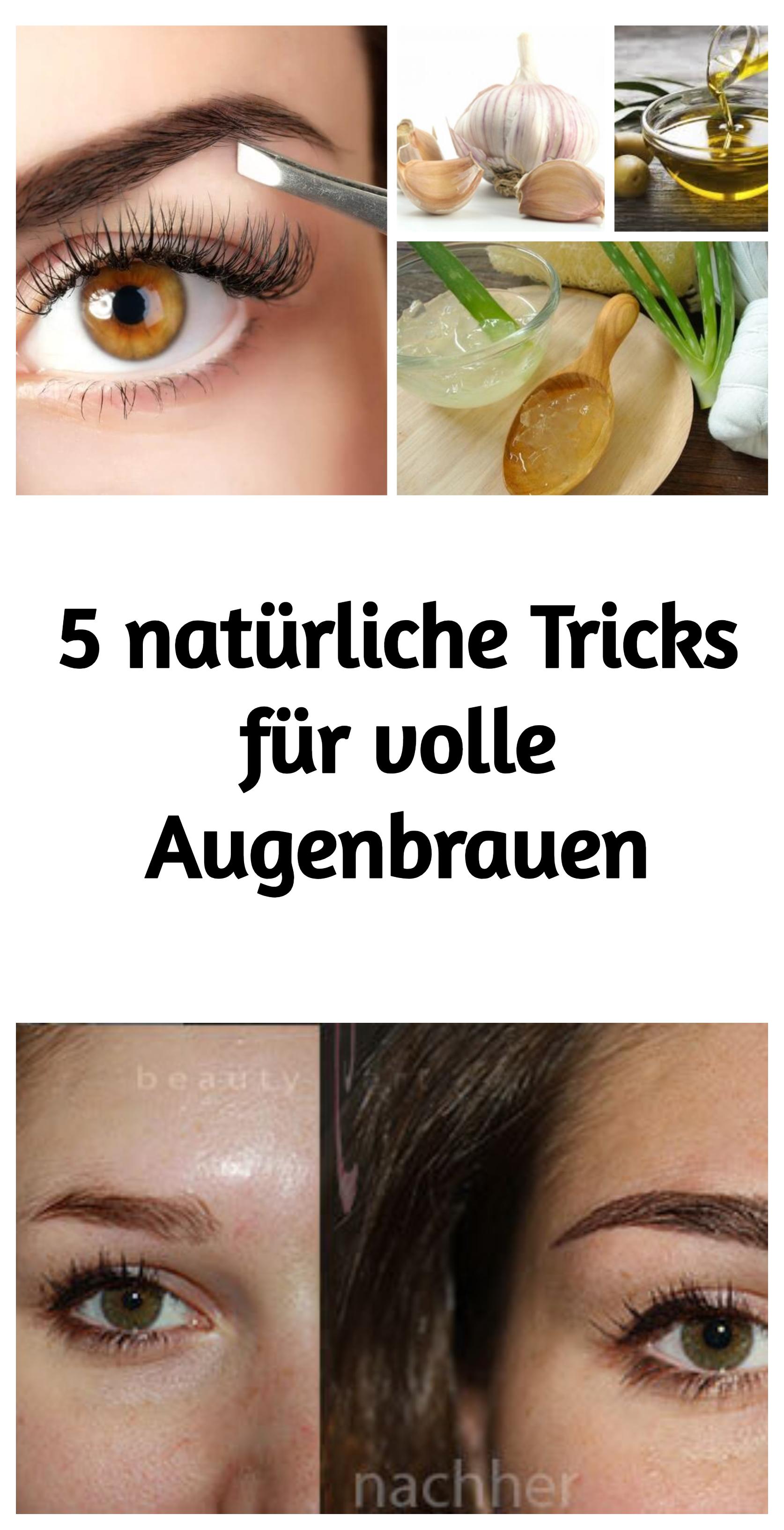 5 natürliche Tricks für volle Augenbrauen   здоровье